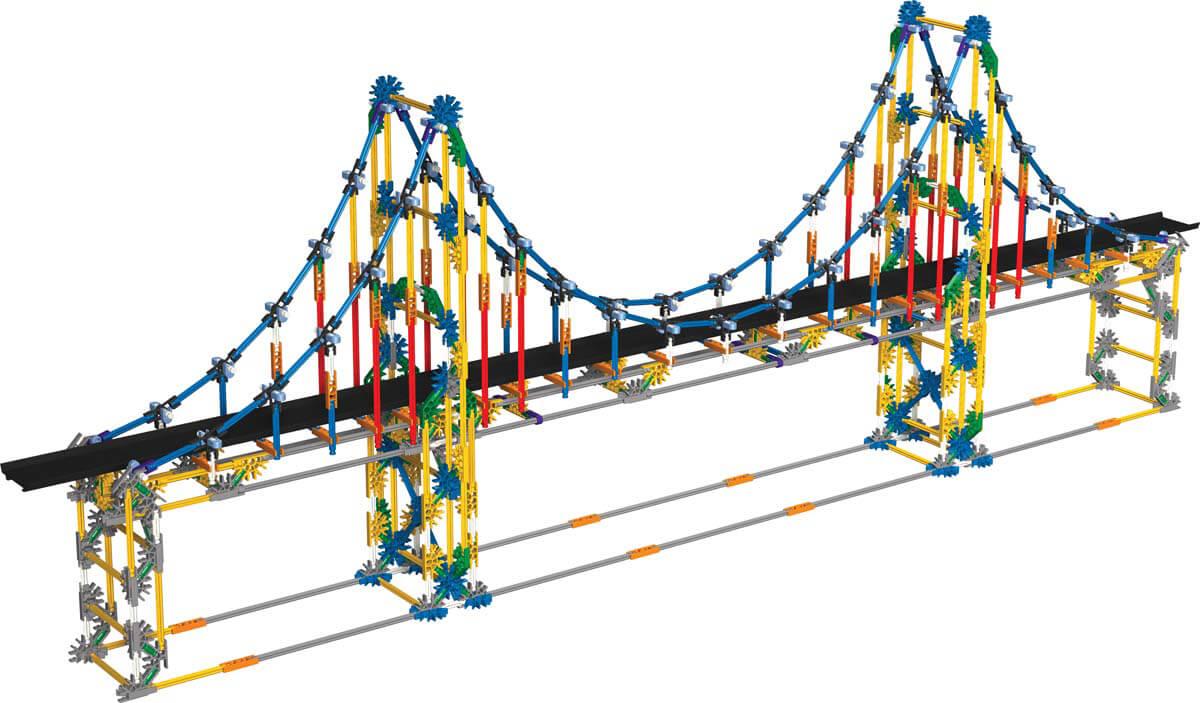 1200x703 K'nex Education Real Bridge Building Set Creative Building Toys