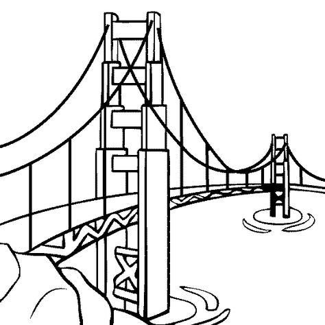 Golden Gate Bridge Line Drawing