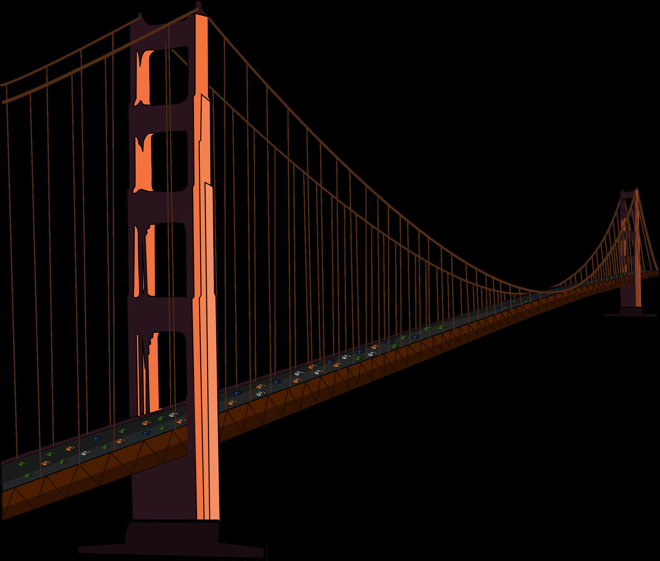 2225x1893 Drawing Golden Gate Bridge