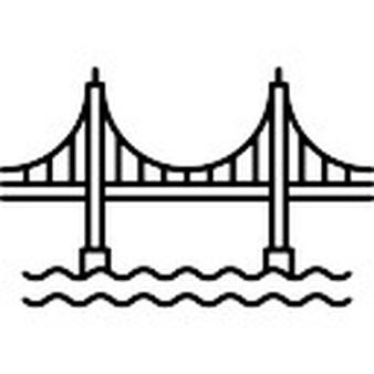 338x338 Golden Gate Bridge Clipart Black And White
