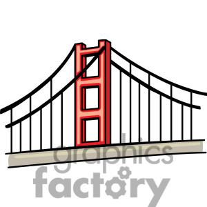 300x300 Golden Gate Bridge San Francisco Clipart