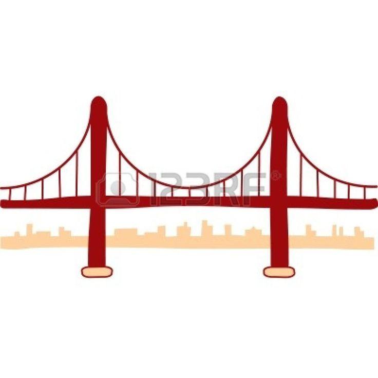 736x736 Golden Gate Bridge Drawing Clip Art Images