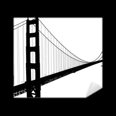400x400 Skyline Silhouette Golden Gate Bridge Transparent Png Clipart