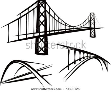 450x376 Bridge Clipart Drawing, Bridge Drawing Transparent Free