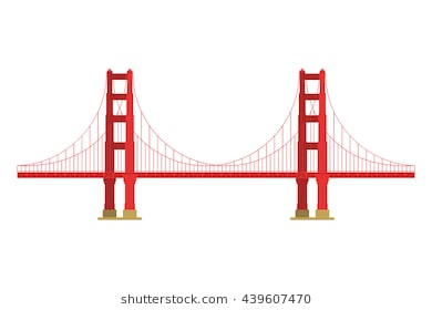 390x280 Collection Of 'golden Gate Bridge Silhouette Vector' Download