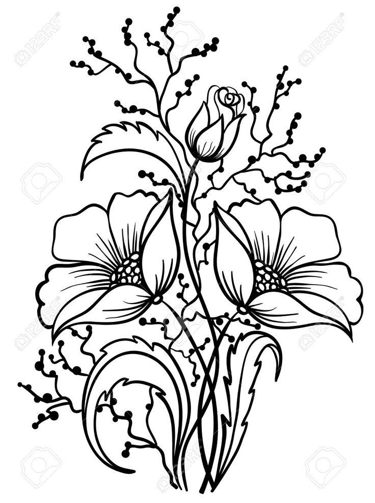 736x986 How To Draw A Goldenrod Flower F F Xyz