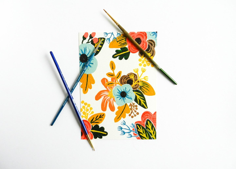 1440x1033 Retro Painted Flowers Tutorial The Postman's Knock