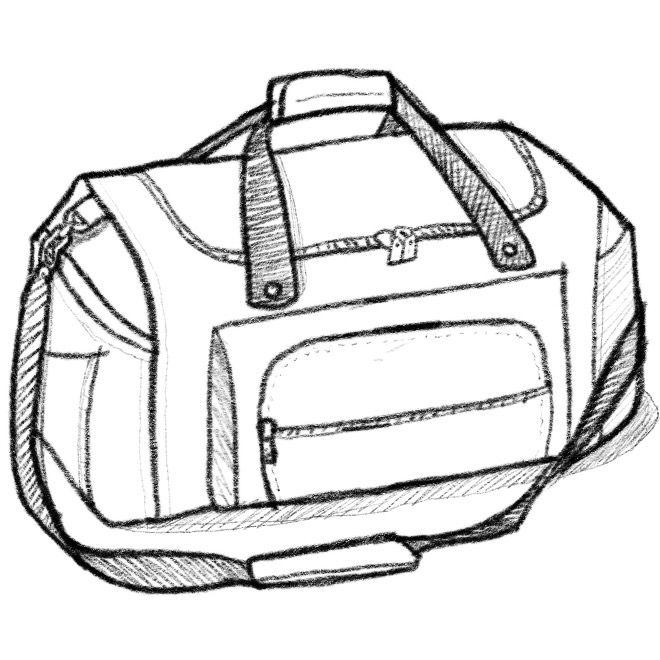 Golf Bag Drawing