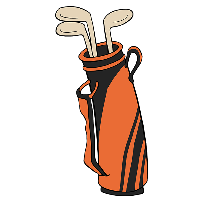 680x678 golf bag cartoon drawing golf cart golf cart hd images