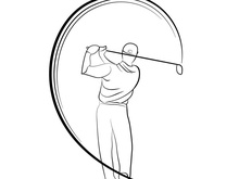 Golf Player Drawing