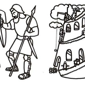 300x300 david and goliath coloring page free coloring pages of david