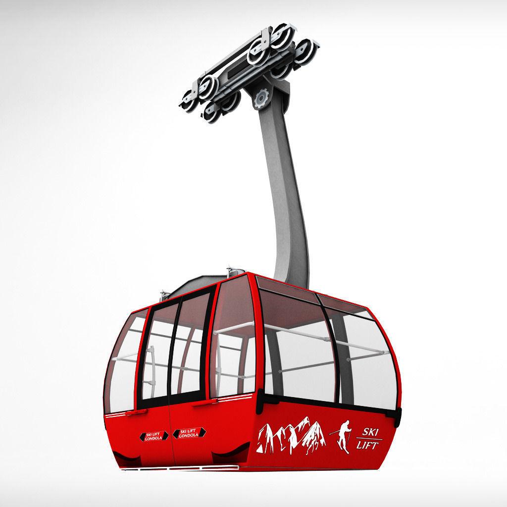 1024x1024 Ski Lift Gondola Cable Car Cgtrader