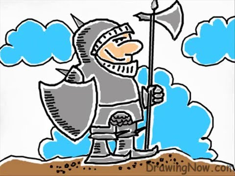 480x360 How To Draw A Knight In Armour