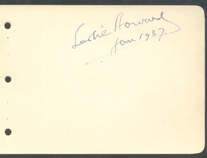 786x599 Leslie Howard Signed Album Leaf Dated Jan Gone