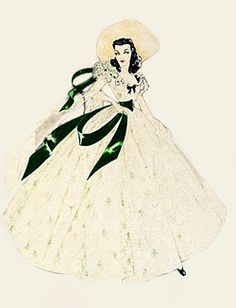 236x308 Walter Plunkett Design Sketches For Vivien Leigh As Scarlett O