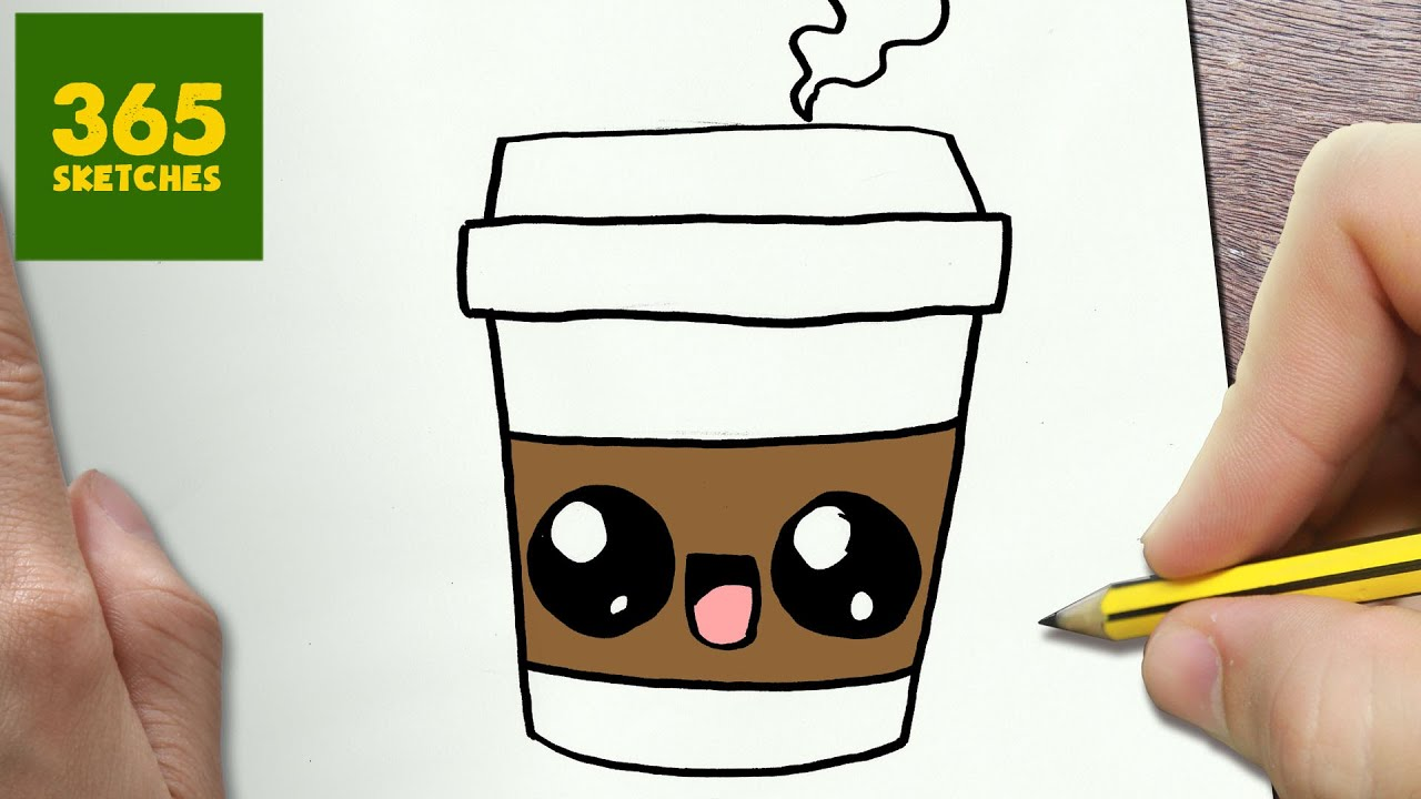 1280x720 How To Draw A Coffee Cute, Easy Step