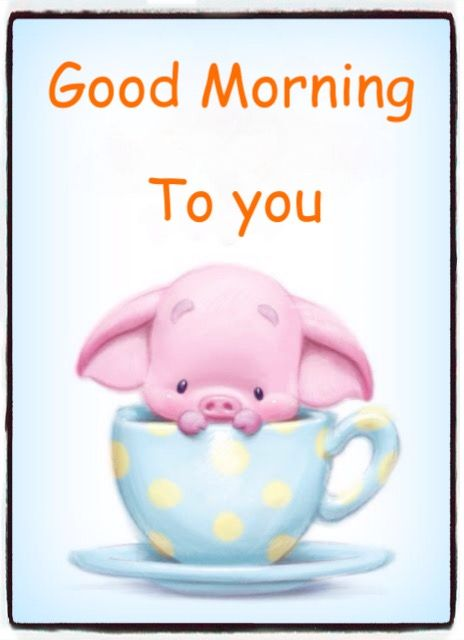 464x640 Good Morning Cards Good Morning, Little Pigs, Pig Drawing