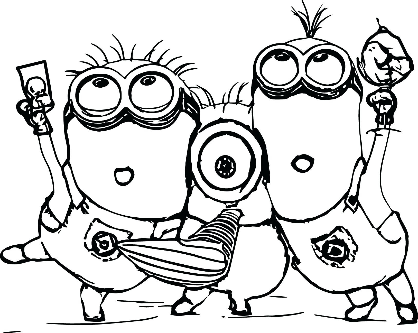 1627x1296 Free Printable Minion Coloring Pages Minions Drawing