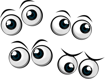 400x299 Comic Eyes Clipart Collection