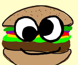 300x250 Draw A Hamburger With Googly Eyes
