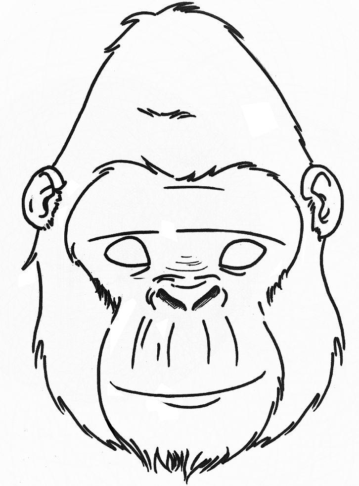 726x981 classroom gorilla mask, gorilla craft