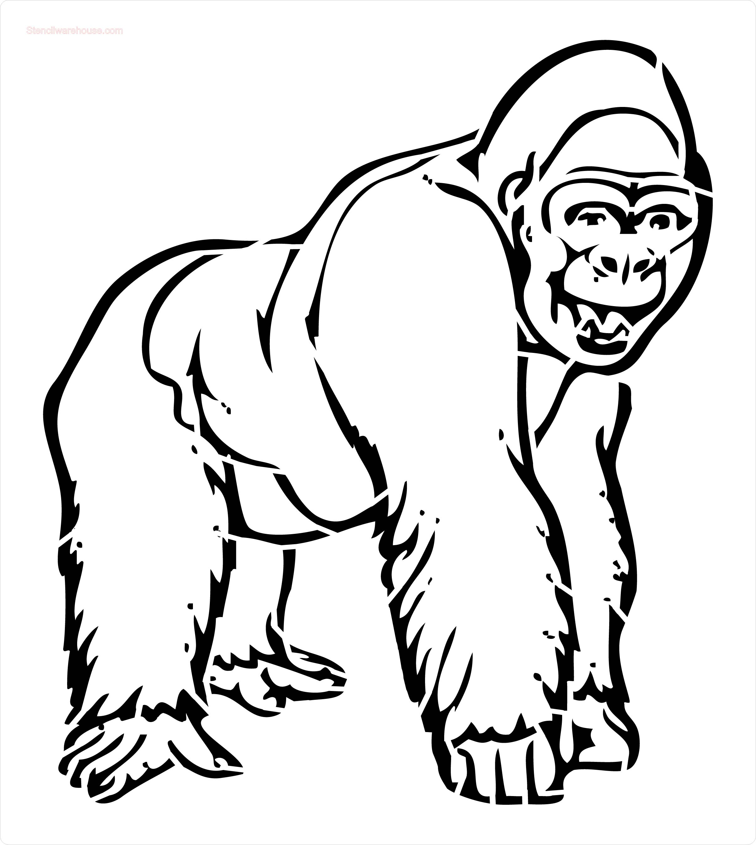 2410x2694 Gorilla Drawing Stencil For Free Download