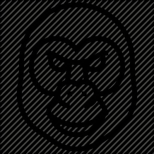 512x512 Drawing Gorilla Wild Animal Transparent Png Clipart Free