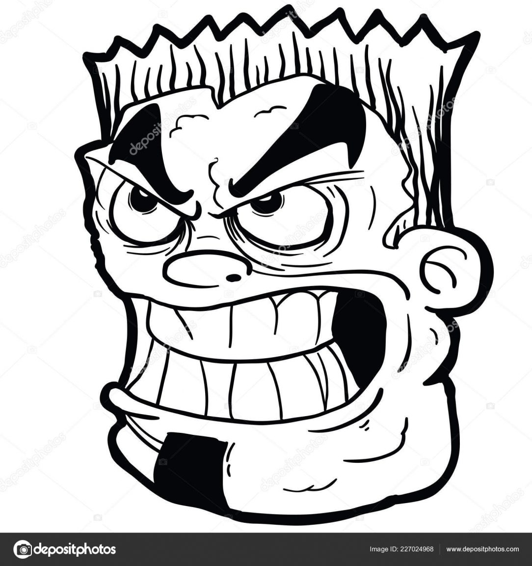 1084x1152 Angry Gorilla Face Drawing Bear Side Wolf Simple Man Iydunetwork