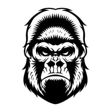 375x375 Awesome Raven Tattoo Idea Tattoo Monkey Tattoos, Gorilla