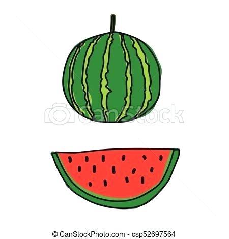 450x470 watermelon drawing watermelon drawing cute