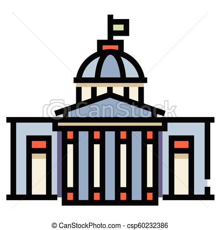 450x470 government building linecolor illustration government building