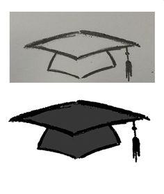 Grad Cap Drawing