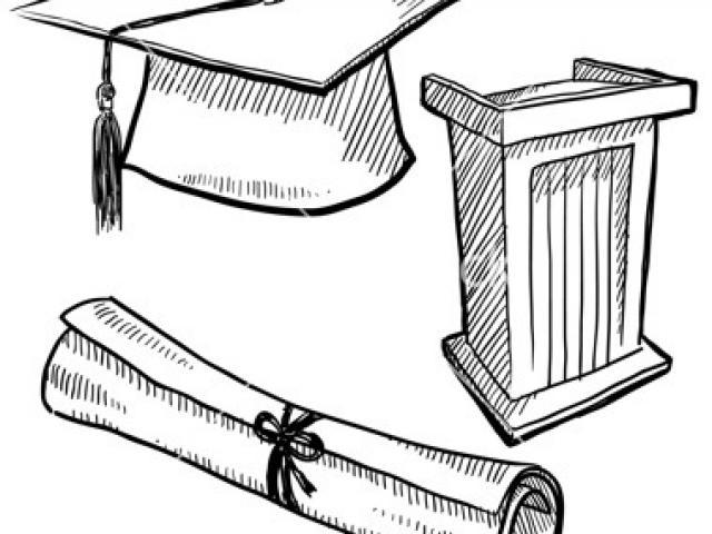 640x480 Graduation Cap Drawing