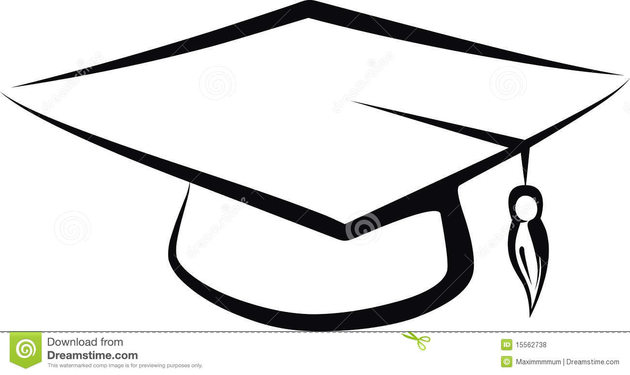 1300x773 Graduation Cap Drawings Group With Items