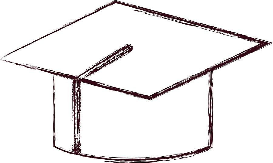 900x537 Graduation Cap Icon Drawing