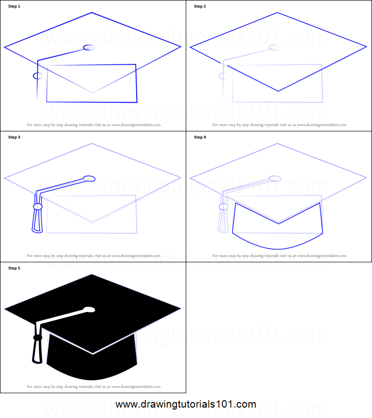 751x843 How To Draw A Graduation Cap Printable Step