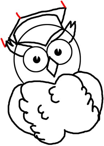 340x476 Step Drawing Comic Cartoon Owls With Graduation Cap