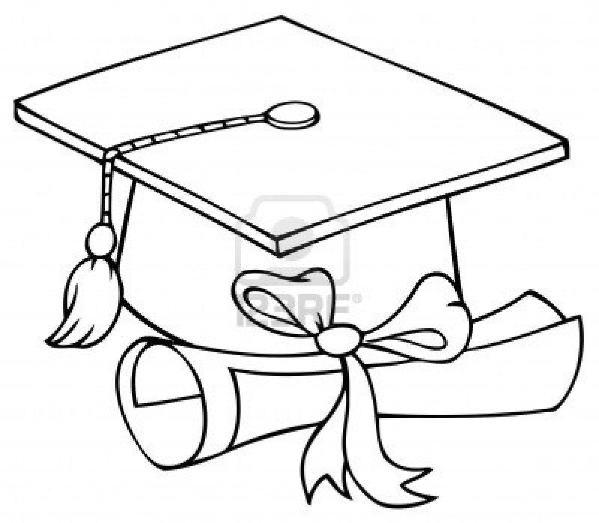 1200x1047 Graduation Cap Coloring