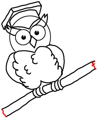 400x491 Graduation Drawings Step Drawingic Cartoon Owls With Graduation