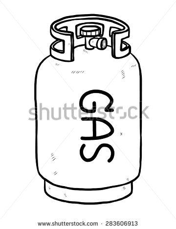 360x470 Gas Cylinder Clipart Black And White