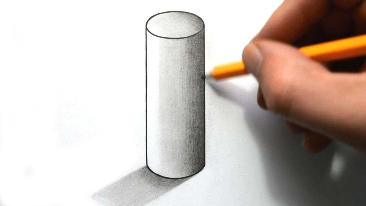 1280x720 How To Draw A Cylinder
