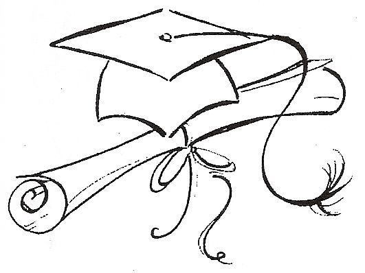 531x398 Graduation Cap Drawing Free Download Clip Art