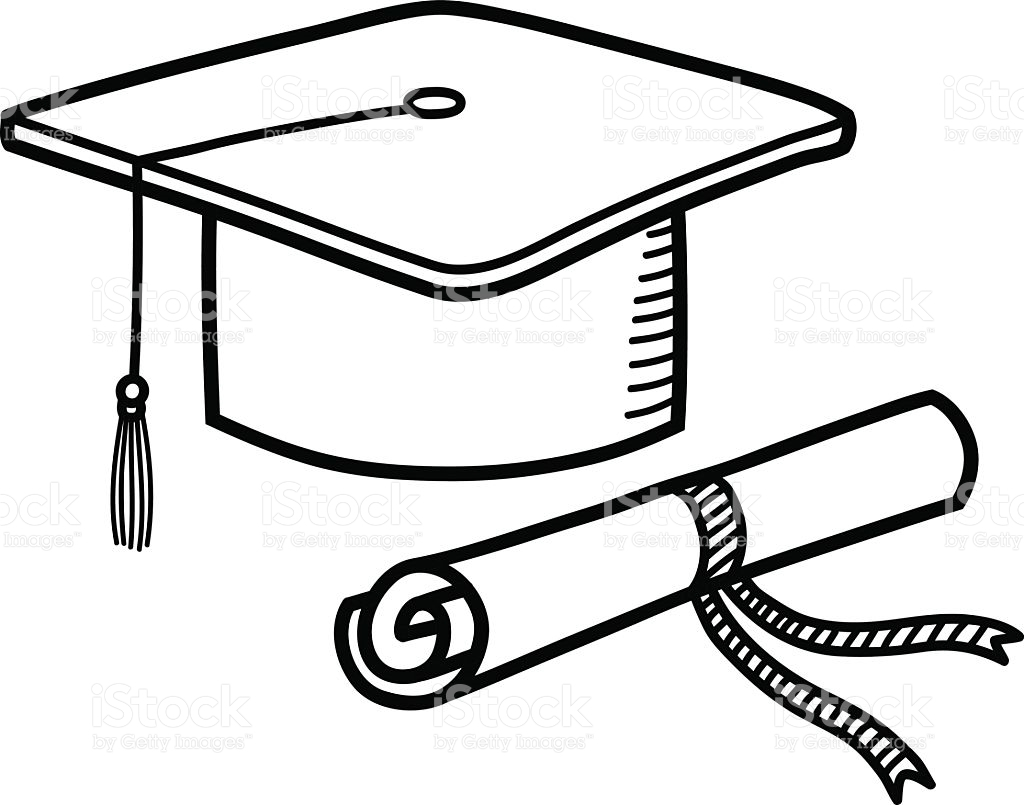 1024x805 Diploma Drawing Graduation Hat For Free Download