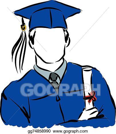 406x470 Graduation Robe Clipart