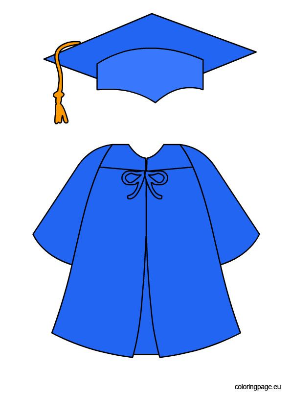 595x804 Blue Graduation Cap And Gown Decor Graduation, Graduation Cap