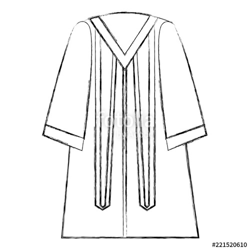 500x500 Traditional Graduation Robe Dress Elegance Stock Image