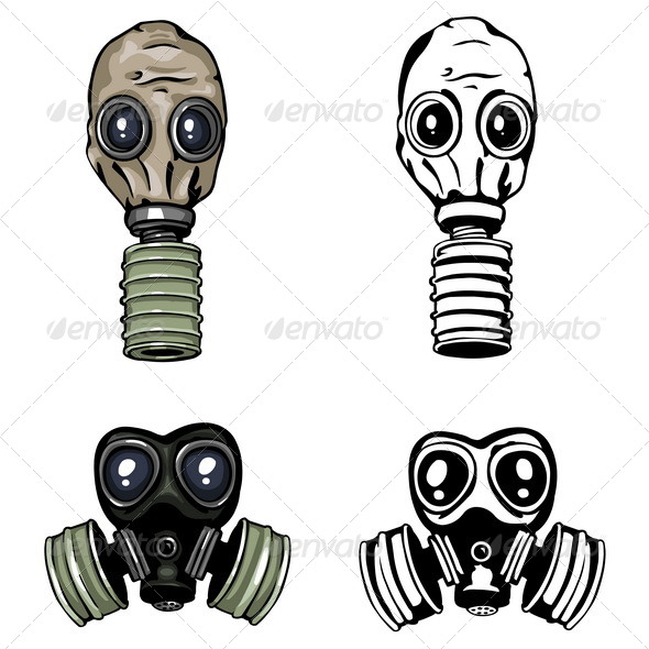 590x590 Gasmask Graphics, Designs Templates From Graphicriver