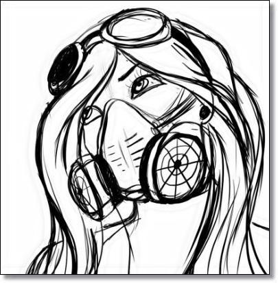 405x413 Graffiti Gas Mask Drawings Apk