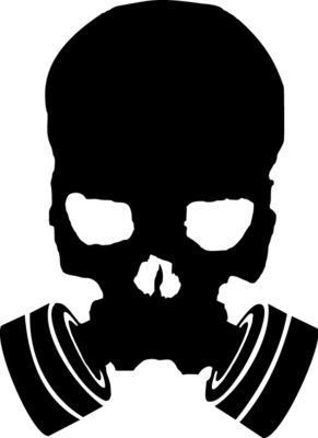 291x400 Scary Gas Mask Skull Vinyl Sticker Decal