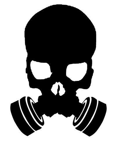 400x500 Skull Gasmask Logo Vw De Gas, Dibujos, Mascaras